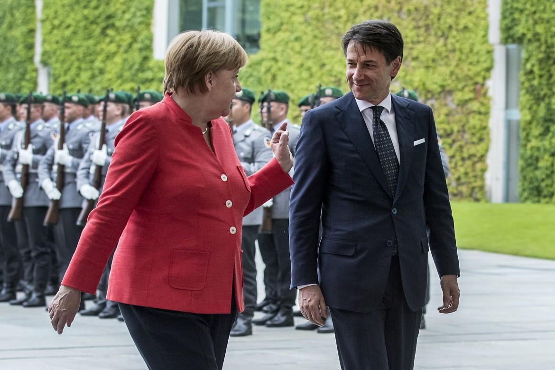 Angela Merkel e Giuseppe Conte a Berlino