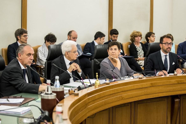 Sergio Mattarella e l'attuale vicepresidente del Csm Giovanni Legnini