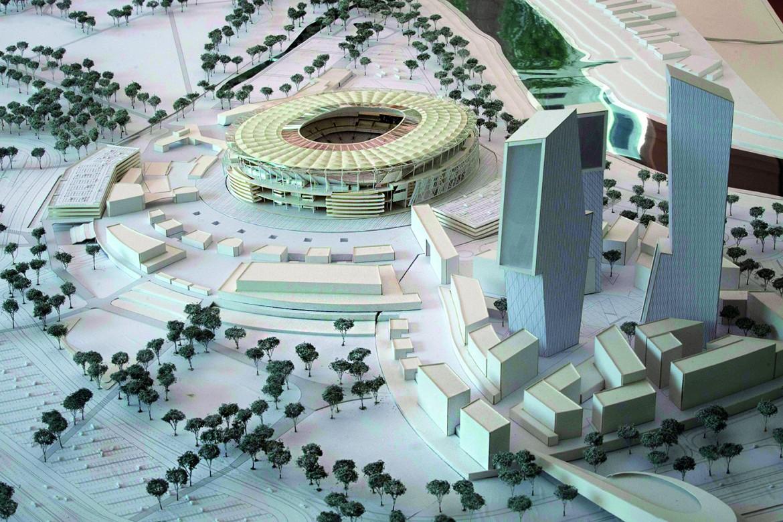 Il primo progetto per lo stadio della Roma