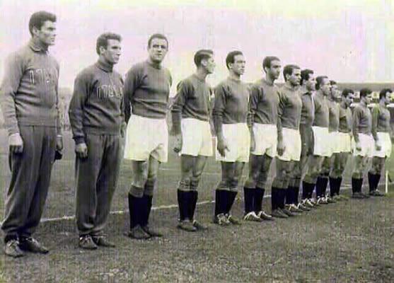 nazionale italiana che giocò l'amichevole il 14 dicembre 1957