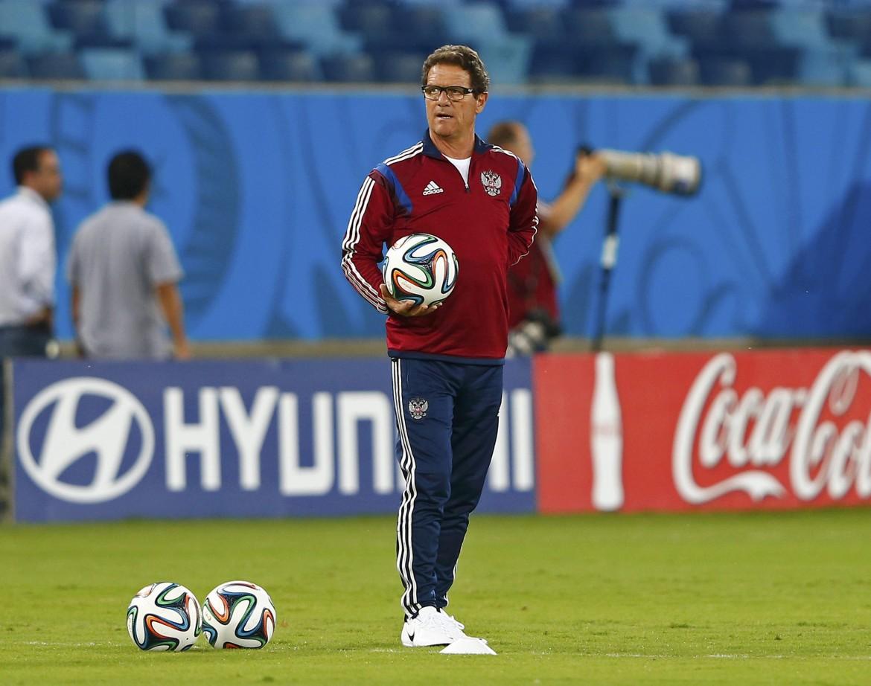 Fabio Capello ai Mondiali del 2014, quando allenava la Russia