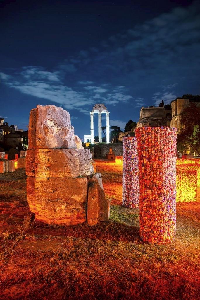 Un'immagine della mostra in corso a Roma