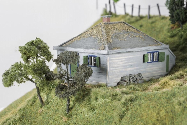 La baita di Heidegger nella Foresta Nera (diorama di Mark Riley)