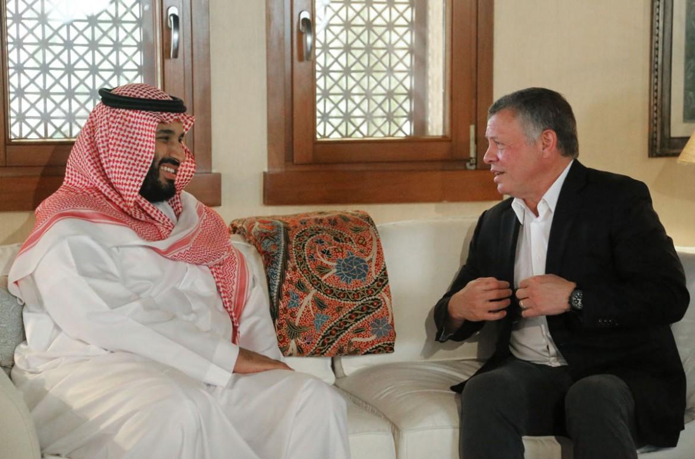 Il principe ereditario saudita Mohammed bin Salman con re Abdallah di Giordania