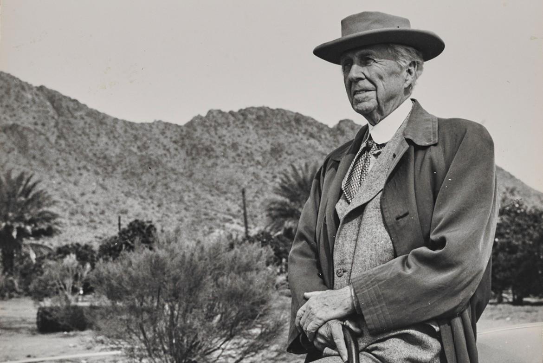 Una foto storica di Frank Lloyd Wright, dalla mostra di Torino alla Pinacoteca Giovanni e Marella Agnelli