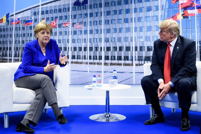 Angela Merkel con Donald Trump