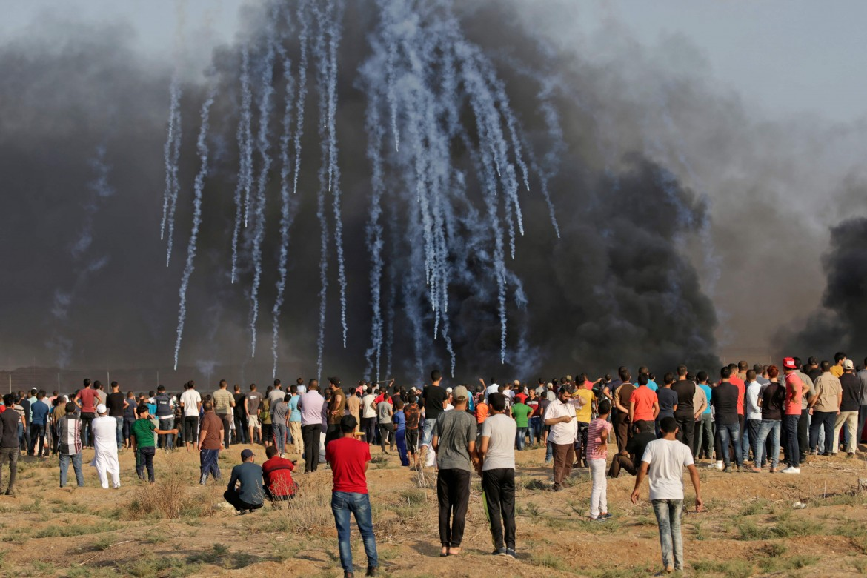 Gaza. Una manifestazione della Marcia del Ritorno