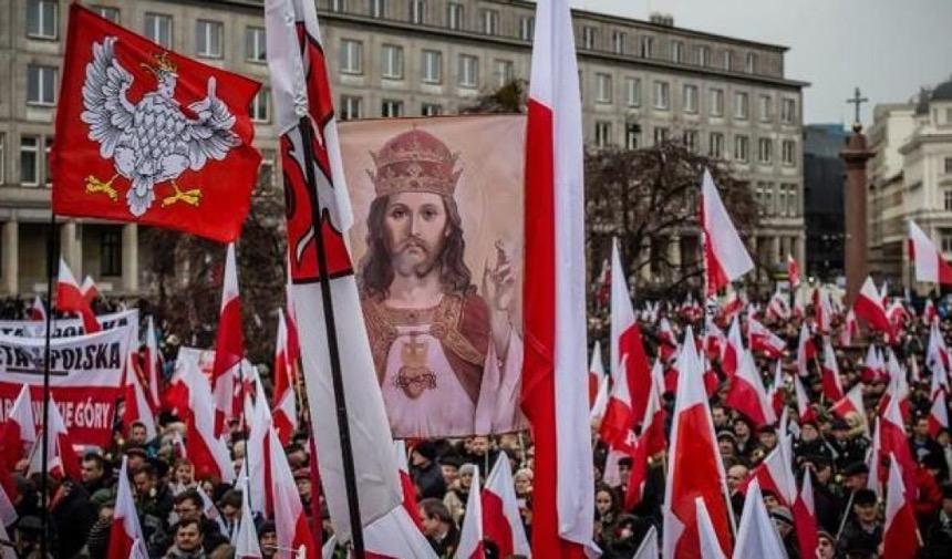 Una manifestazione nazionalista polacca