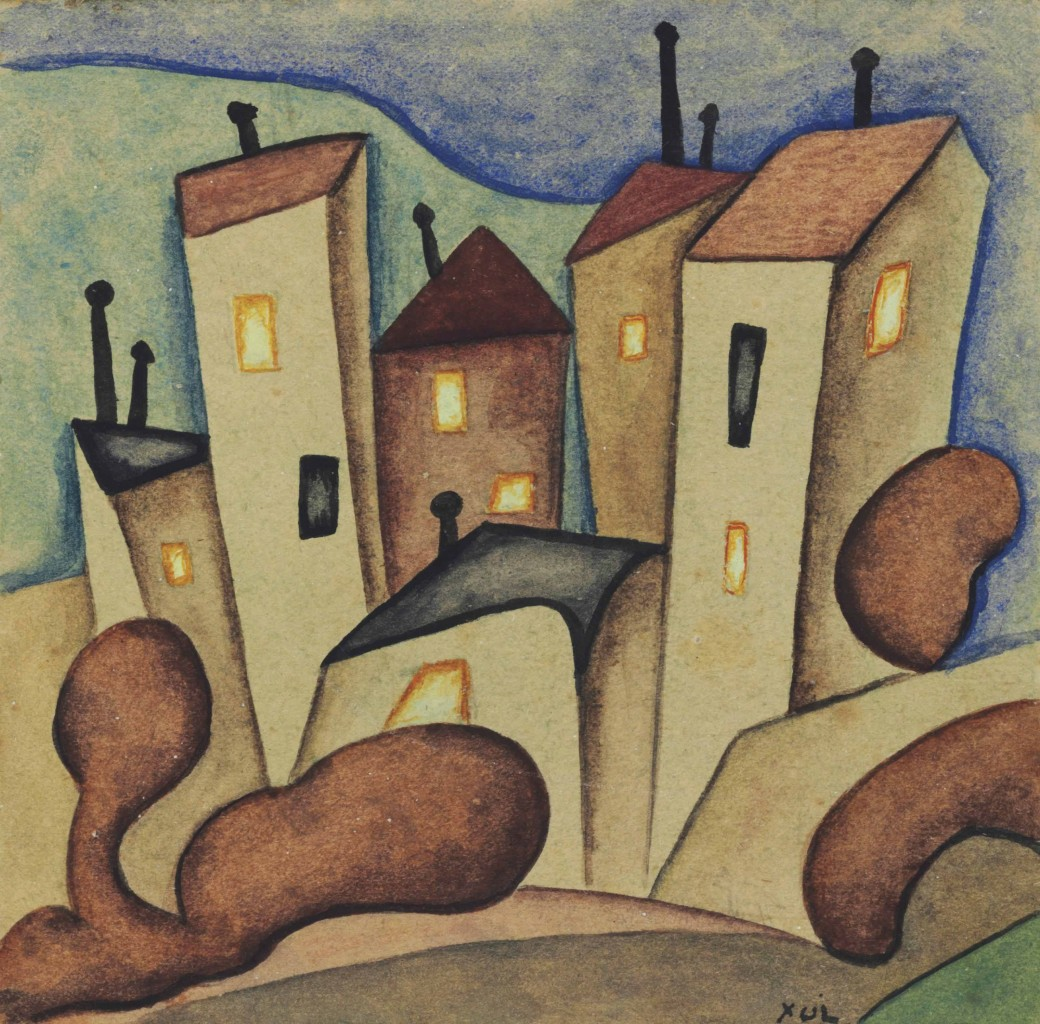 Alejandro Xul Solar, «Siete casas», 1919