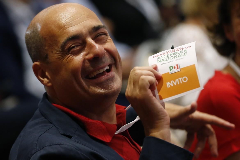 Nicola Zingaretti all'Assemblea nazionale del Pd