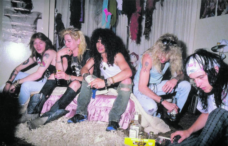I Guns N'Roses nella formazione originale in uno scatto degli '80