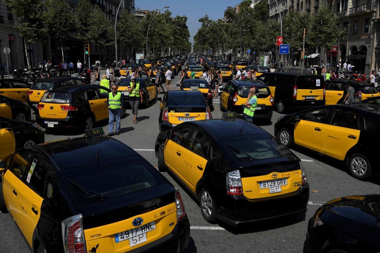 Sciopero dei taxi a Madrid