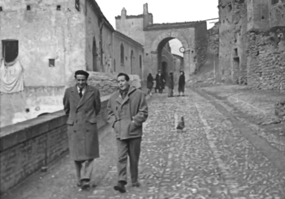 Rocco Scotellaro (a destra) a Tricarico