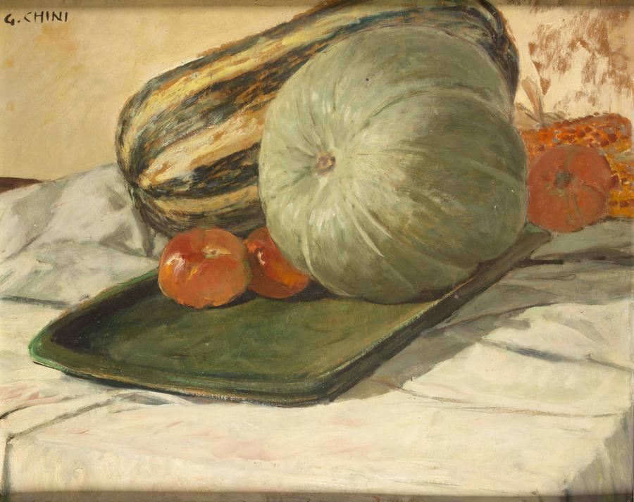 Galileo Chini, Natura morta con zucche, collezione privata