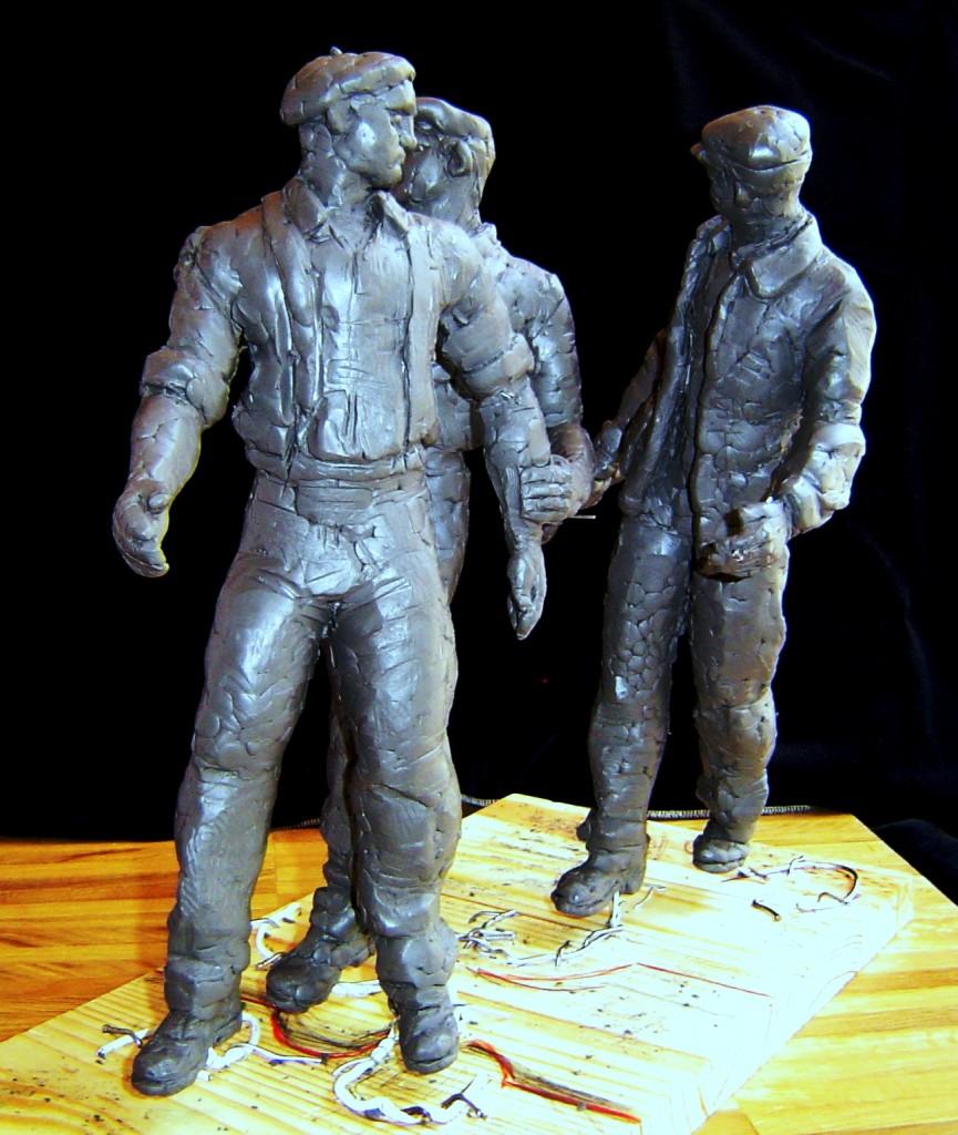 Un'opera di Bob Hilbert, «I giganti»