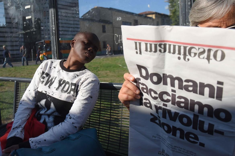 La vigilia del cambio della grafica del giornale. Pistoia, 28 settembre 2016