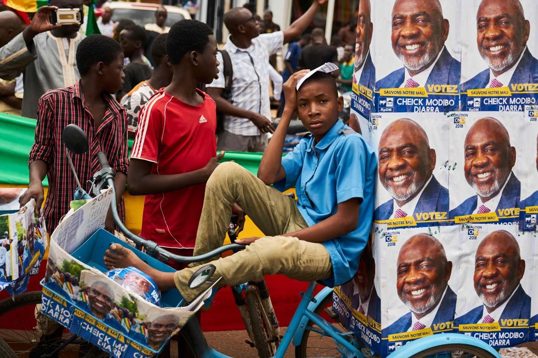 supporter del candidato maliano Sheikh Modibo Diarra