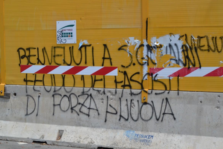 Scritte di estrema destra nelle strade VII Municipio di Roma