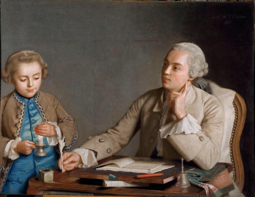 Jean-Étienne Liotard, La scrittura, 1752, Vienna, Kunsthistorisches Museum, foto  di Edgar Knaack