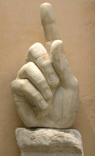 Statua colossale di Costantino, mano destra, Musei Capitolini