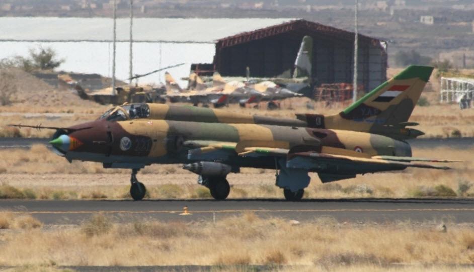 Un Sukhoi 22 siriano in fase di decollo