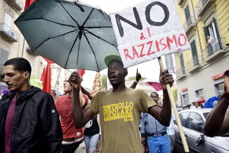 Protesta antirazzista a Napoli