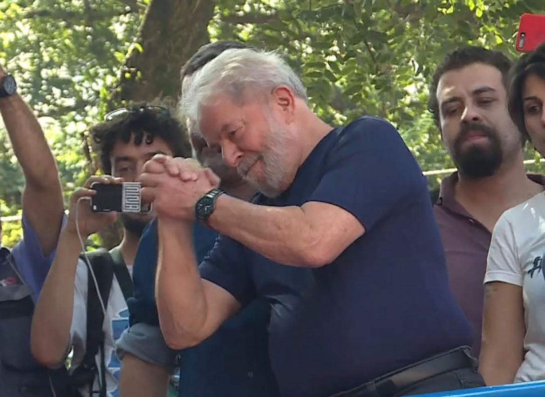 Lula, lo scorso aprile, prima dell'arresto a San Paolo