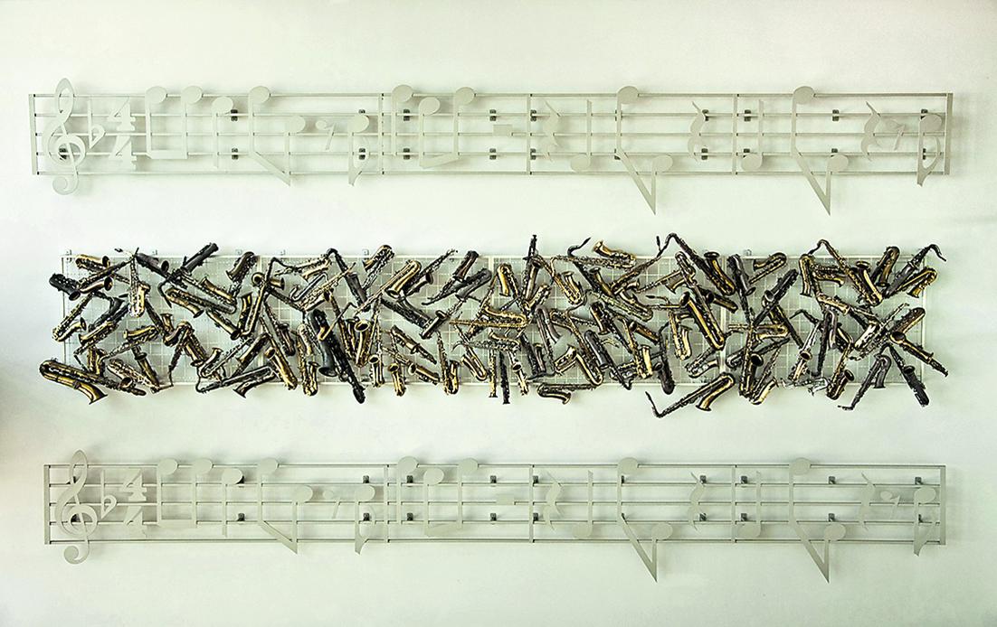 Un'opera di Mildred Howard che omaggia Dizzy Gillespie e la sua «Salt Peanuts»