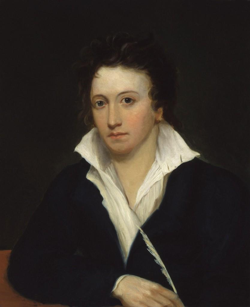 Alfred Clint, Ritratto di Shelley, postumo, dal dipinto di Amelia Curran,1819, Londra, National Portrait Gallery.