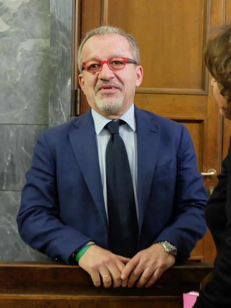 L'ex governatore della Lombardia Roberto Maroni, possibile sfidante di Matteo Salvini al prossimo congresso