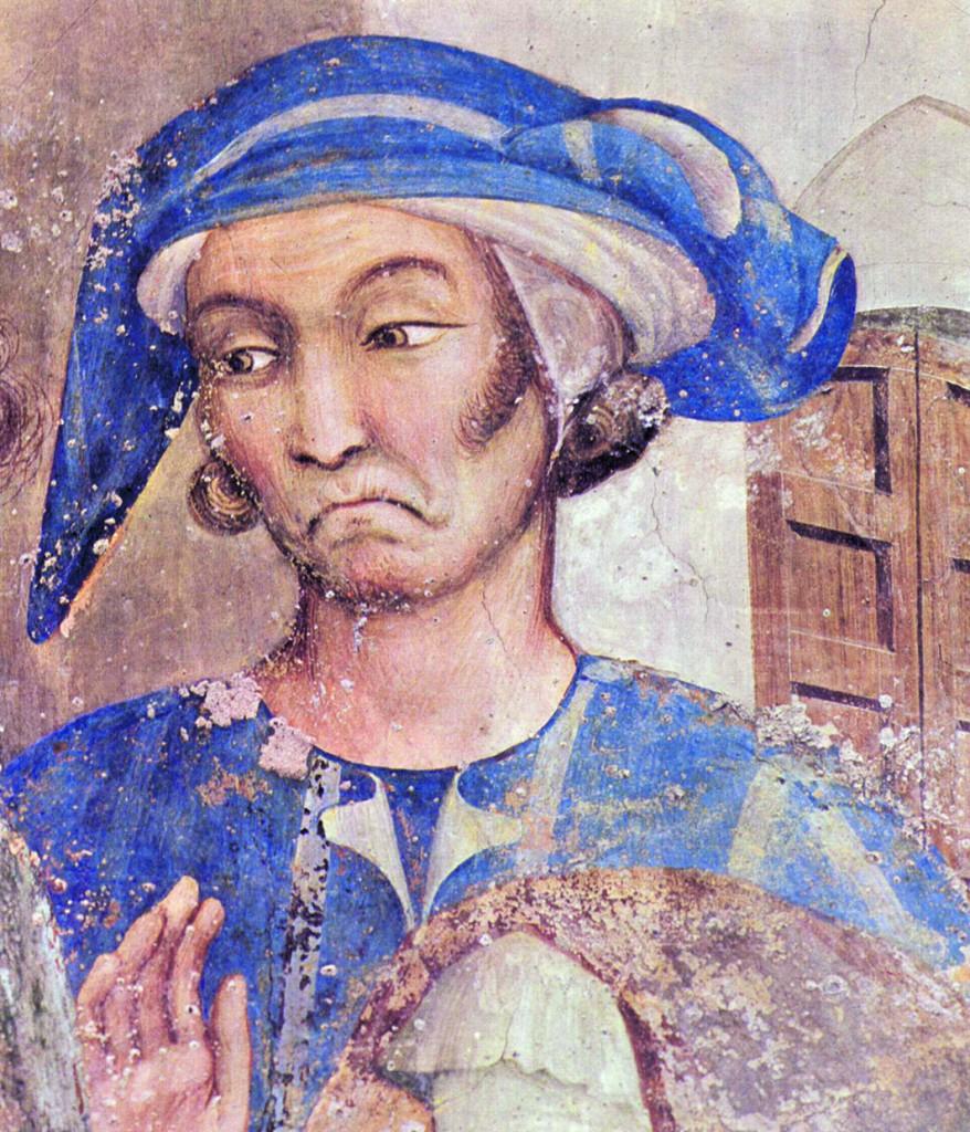 Simone Martini, Cappella di San Martino, Assisi (presunto autoritratto)