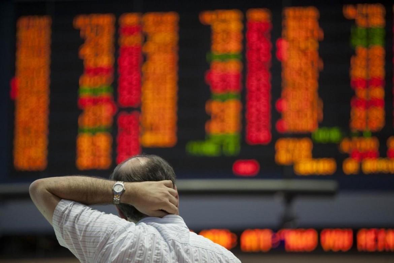 Un operatore di Borsa preoccupato