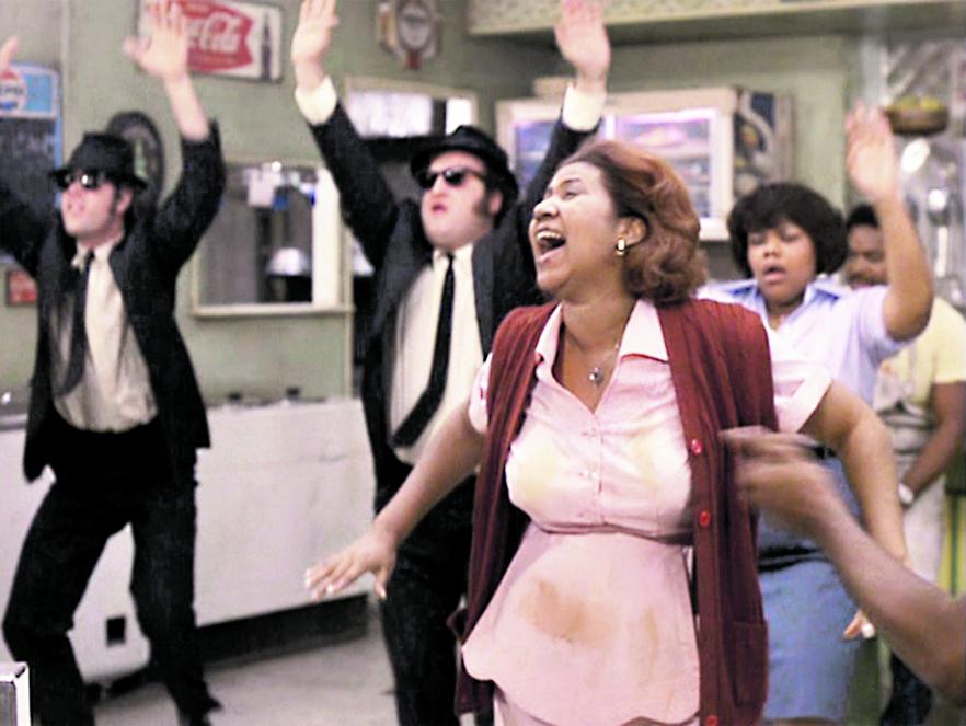 Aretha Franklin una scena da «The Blues Brothers» (1980)