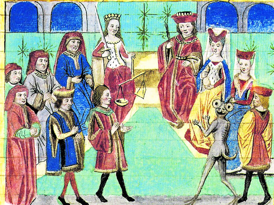 «L'irruption de la Justice dans les causes imaginaires. Le procès de Satan et de la reine Ratio» (Bibliothèque de l'Arsenal)
