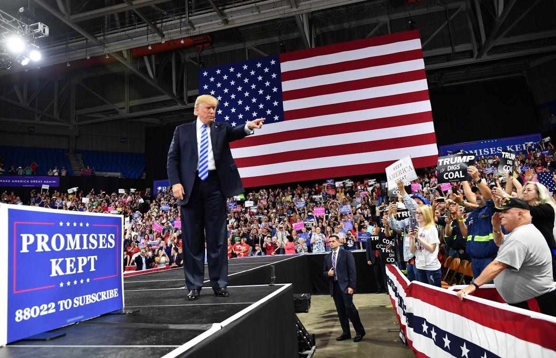 Charleston (West Virginia), il comizio di martedì scorso di Trump