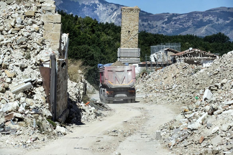 Amatrice,  due anni dopo  il terremoto,  ancora ricoperta  di macerie