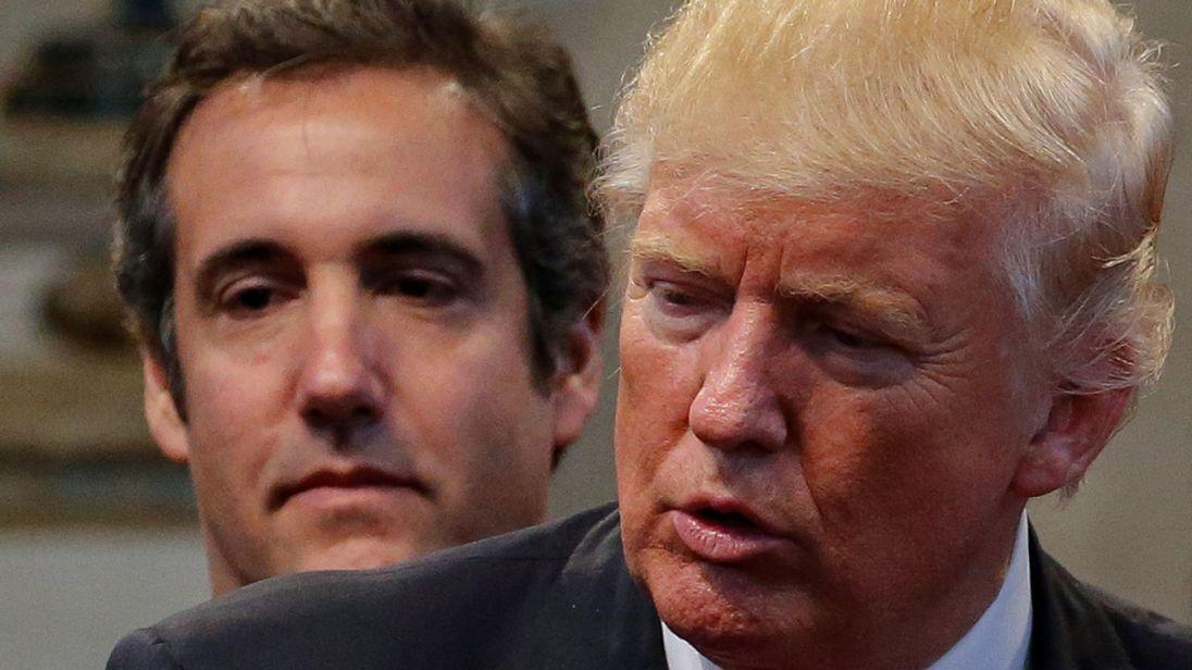 Donald Trump con il suo ex avvocato, Michael Cohen