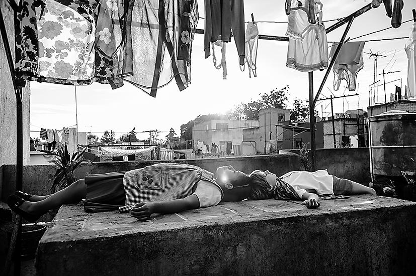 Un'immagine di «Roma» di Alfonso Cuaron