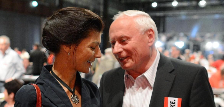 Sahra Wagenknecht e Oskar Lafontaine