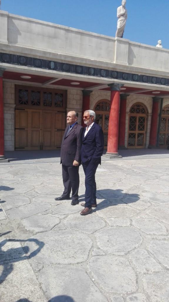 Alberto Bonisoli con Roberto Cicutto