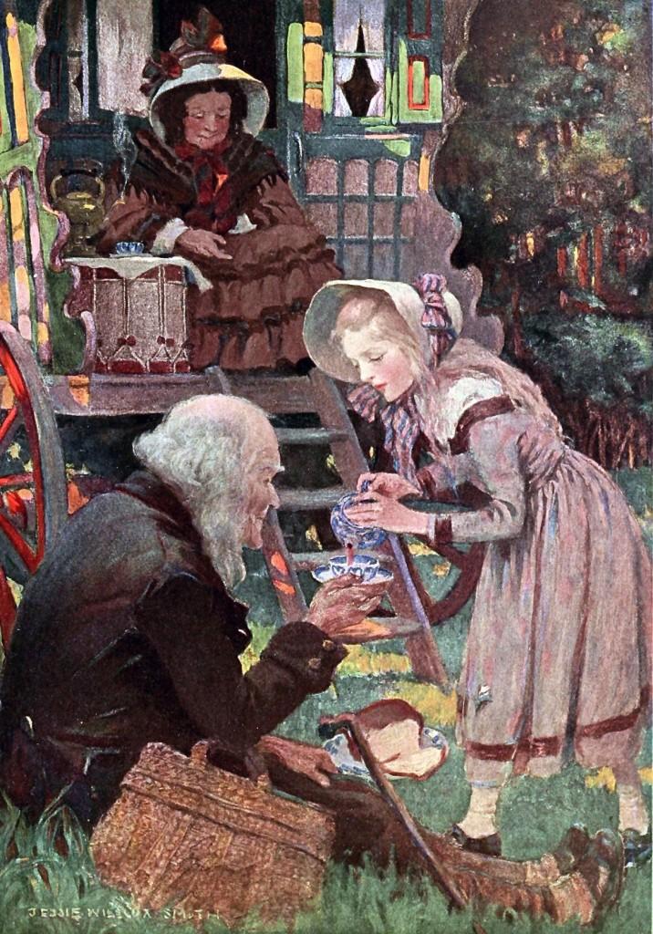 «Little Nell  and her Grandfather», illustrazione di Jessie Willcox Smith, da «Dickens's Children», 1912