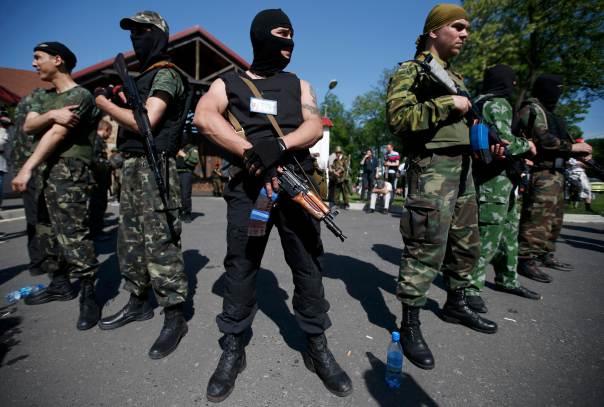Milizie filo russe a Donetsk