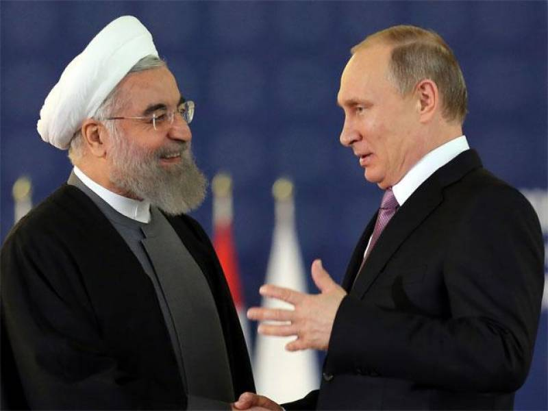 Il presidente iraniano Rouhani e il russo Putin