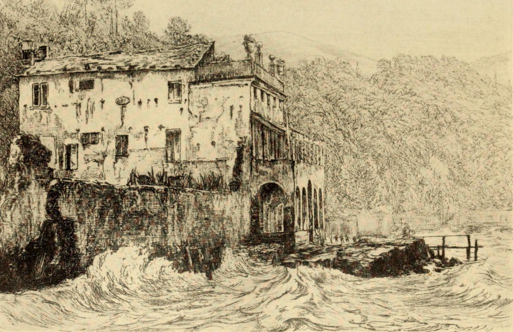 Villa a Magni a San Terenzo, La Spezia, da: Arthur Clutton-Brock, Shelley, the man and the poet, Londra, 1910