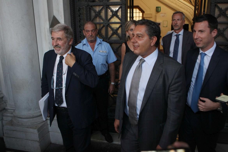 Il sindaco di Genova Marco Bucci e il governatore della Liguria Giovanni Toti