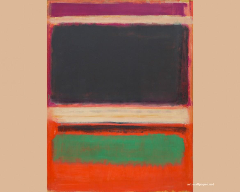 Un'opera di Mark Rothko