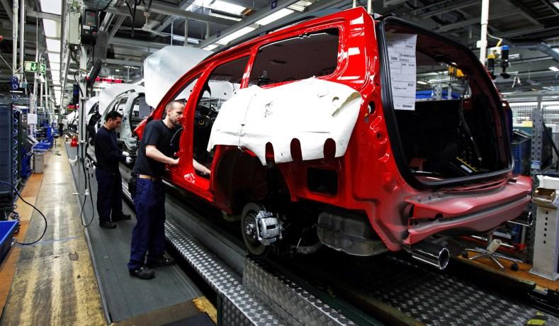 Una fabbrica della Volvo