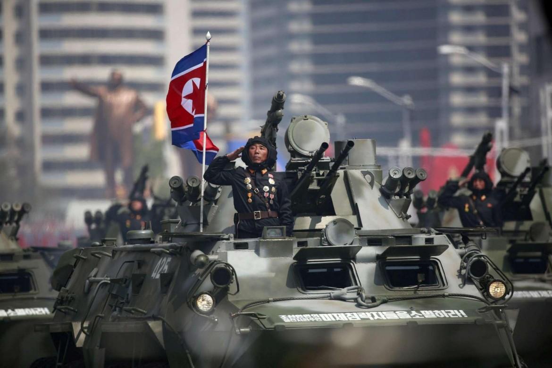 Un momento della parata militare dello scorso anno in Corea del Nord