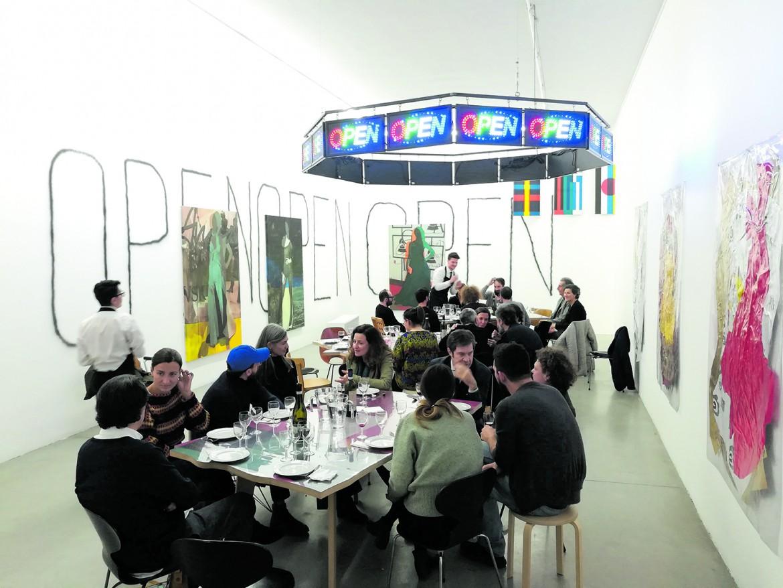 «Open», al Museion di Bolzano; accanto due opere tratte da «Fun With Flags»