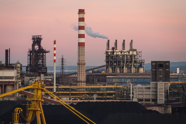 Un'immagine dell'acciaieria ex Ilva di Taranto